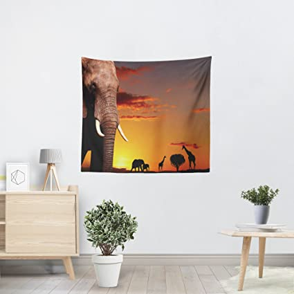 Amazon African Nature Concept Patterns Horizontal Tapestries Stunning Bedroom Furniture Accessories Concept