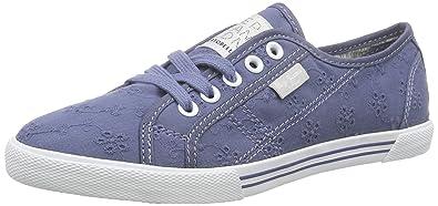 London Aberlady Anglaise, Damen Sneakers, Blau (588OCEAN), 37 EU Pepe Jeans London