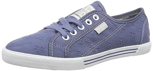 Pepe Jeans Zapatos de Cordones de Lona Para Mujer, Color Azul, Talla 37 EU