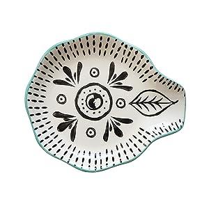 Creative Co-op DA8655 Hand Stamped Stoneware Spoon Rest