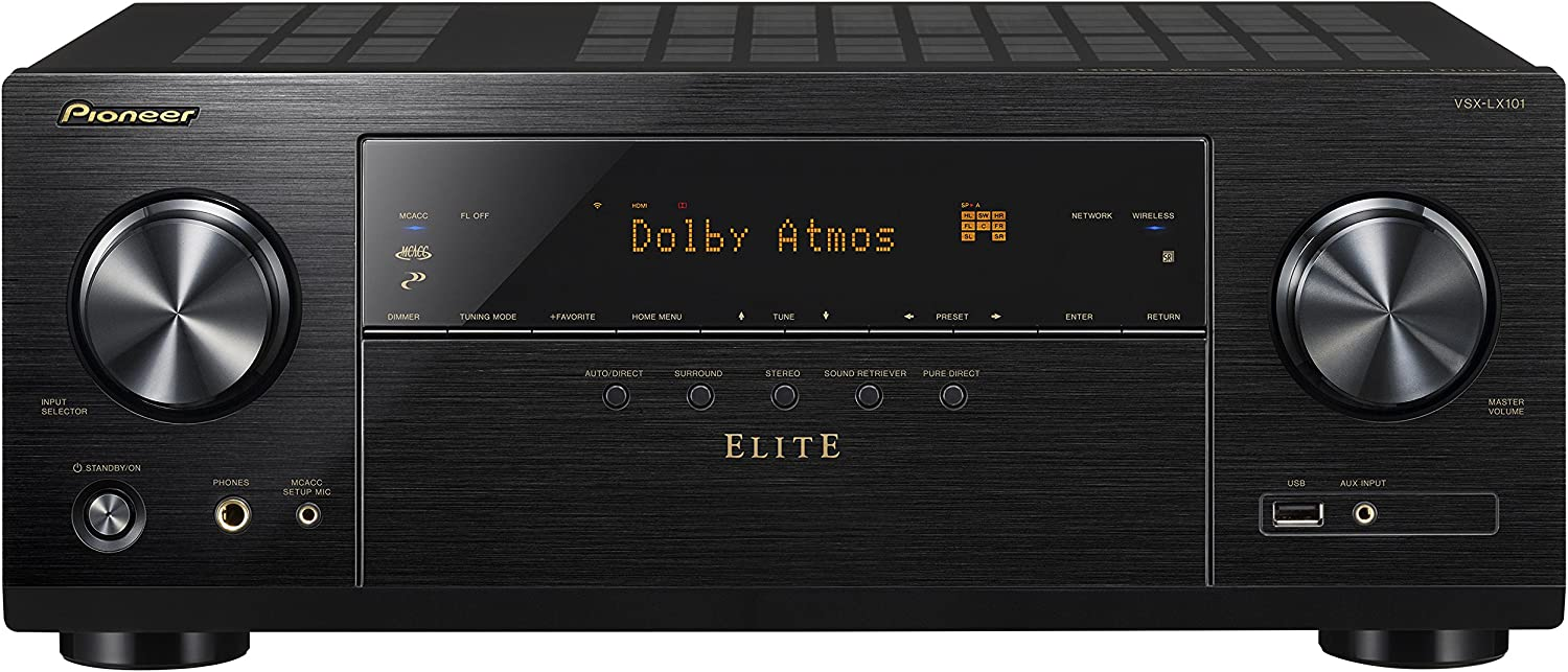 Pioneer VSXLX101 7.2 Channel Networked AV Receiver with Built-In Bluetooth & Wi-Fi (Black)