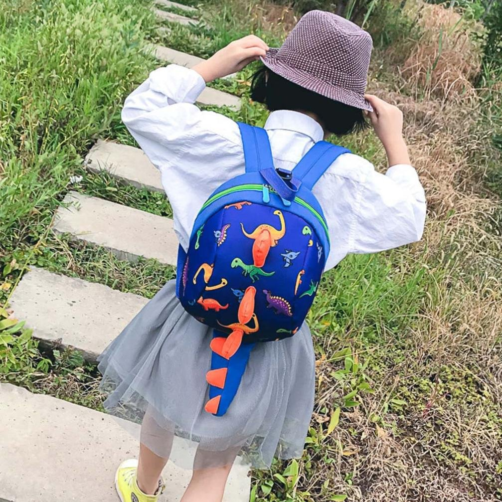 0a9281c0c2 Kid Soft Toy Bag Toddler Baby Bags Cartoon Dinosaur Harness Backpack  Rucksack Kindergarten Book Bag Nursery School Bag for Baby Boys Shoulder  Schoolbag ...