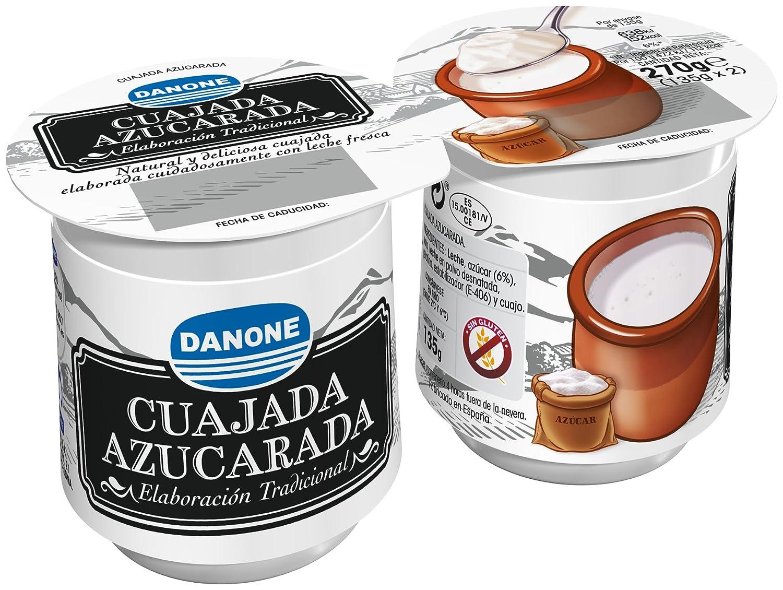 Danone - Cuajada Con Azúcar, Pack 2 x 135 g: Amazon.es: Alimentación y bebidas