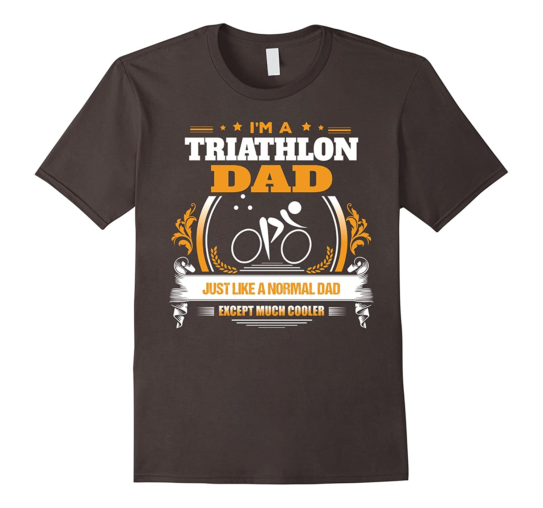 Funny Triathlon Dad Tshirt Christmas Gift for Dad-RT