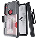 Ghostek Iron Armor Moto G8 Plus Case with Belt Clip Holster, Kickstand & Card Holder Heavy Duty Protection Shockproof Protect