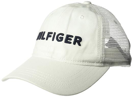 93dddf48 Tommy Hilfiger Men's Bold Trucker Cap Baseball, Classic White, One Size