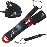 ABAHUB Premium Surfboard Leash Leg Rope SUP Legrope Straight 6 feet Clear red 5.5 mm Thick