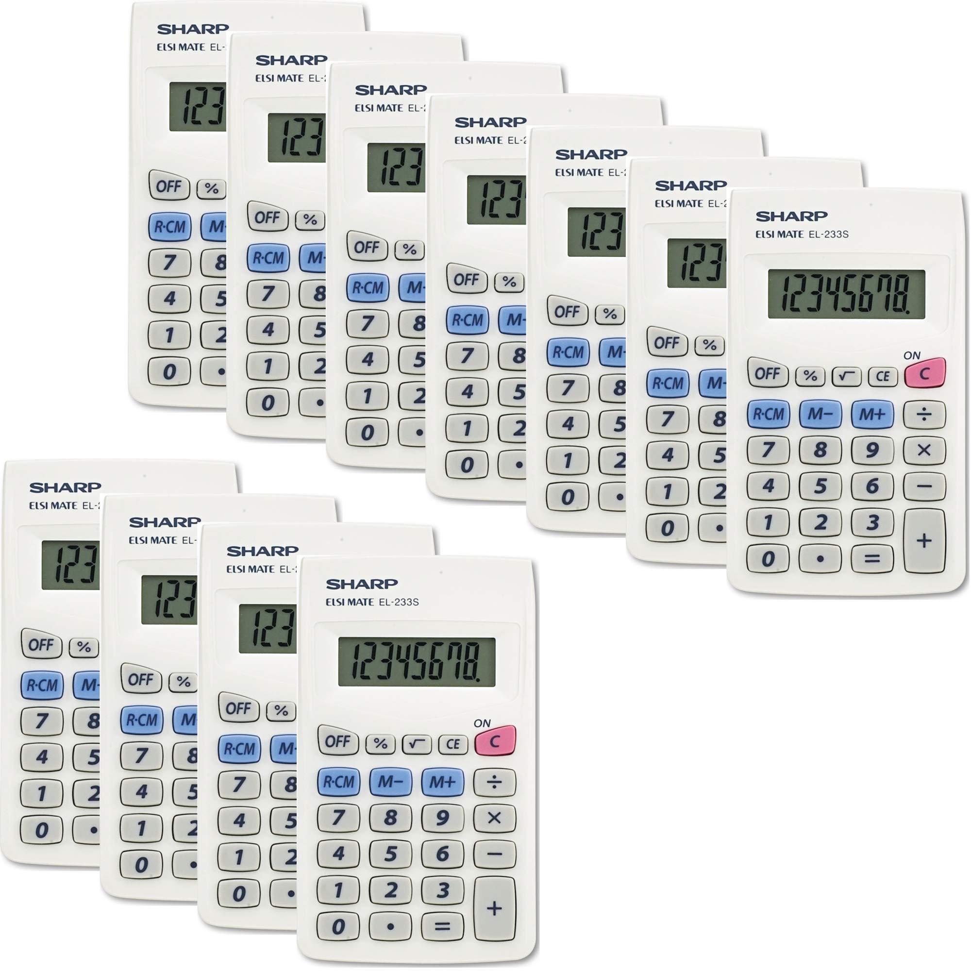 Sharp EL233SB Standard Function Calculator 11/Pack