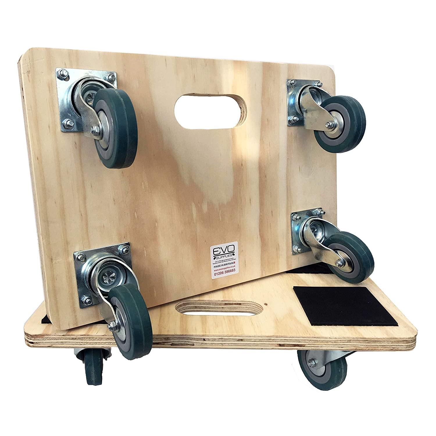 Mini Mover 30x45cm Dolly Removal Moving Trolley Skate Dollytruck swivel wheels 150kg LC Made in the UK