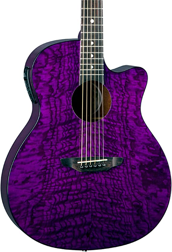 Luna Gypsy Quilt Top Acoustic/Electric Guitar