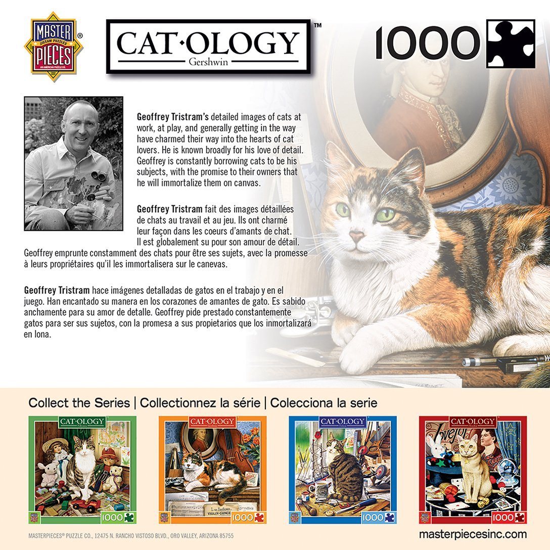 Amazon.com: MasterPieces Cat-Ology Gerschwin - Piano Cat 1000 Piece Jigsaw Puzzle by Geoffrey Tristram: Toys & Games