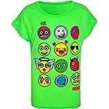Kids Girls T Shirt Emoji Emotions Print Stylish Trendy Fashion Top Age 7 8 9 10 11 12 13 Years