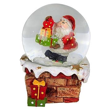 Amazonde Weihnachts Deko Figur Schneekugel Mit Nikolaus Mit