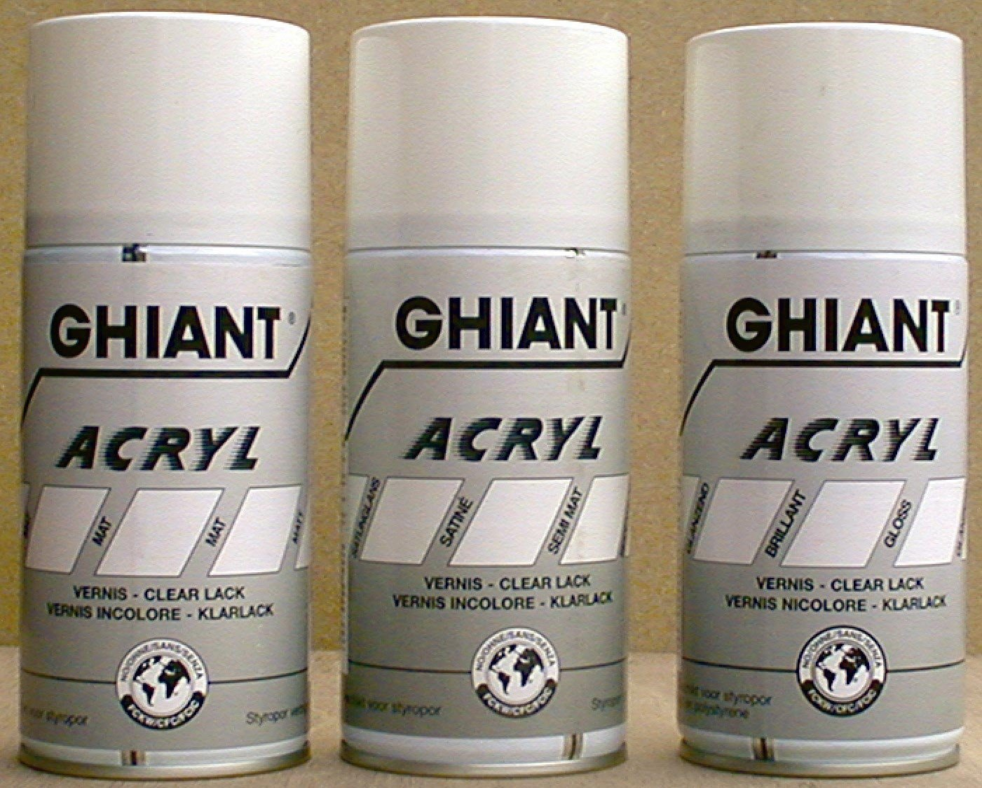 Ghiant 300 ml Acryl Clear Lacquer Gloss Can, Transparent 66030130