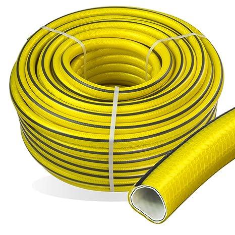 Stabilo-Sanitaer Premium Gartenschlauch Länge: 50m Durchmesser: 25mm Wasserschlauch mit Trikotgewebe | knickfrei | verdrehung