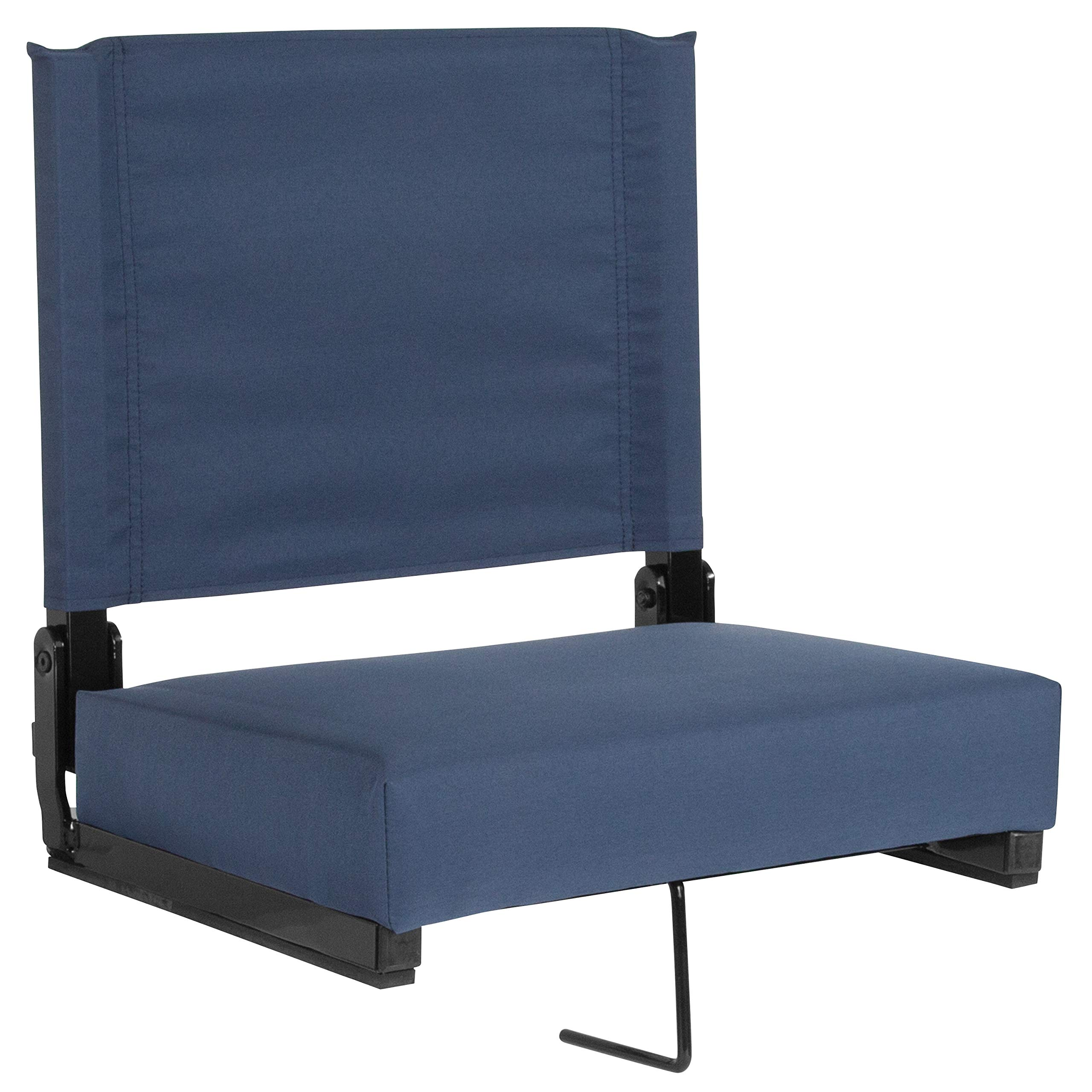 Flash Furniture Grandstand Comfort Seats by Flash with Ultra-Padded Seat in Navy Blue by Flash Furniture