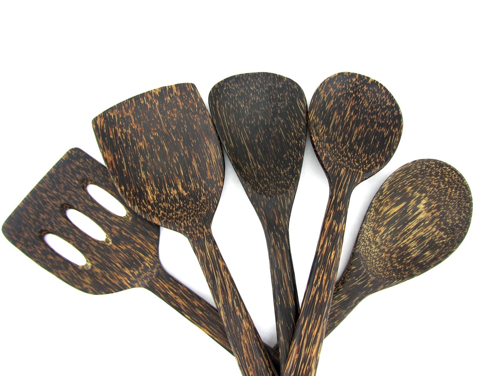 Spatula Wooden Kitchen Tools Palm Wood Cooking Utensils Set of 5