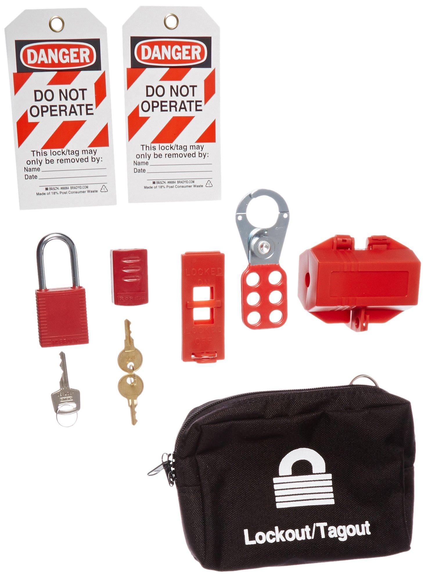 Brady 95550 Portable Lockout Kit, Filled, Electrical, 6