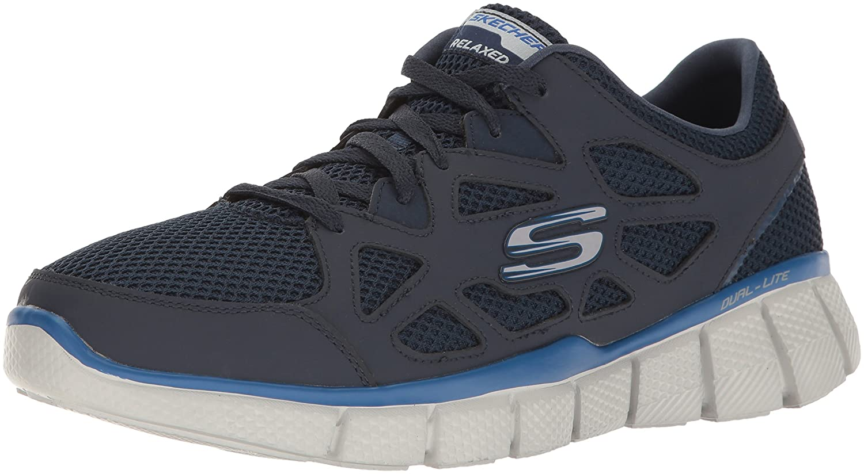Skechers Herren Equalizer 2.0 Groy Laufschuhe  Schwarz Blue (Navy/Grey)