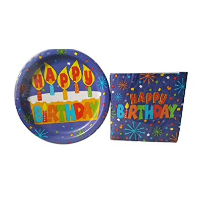 Greenbrier Happy Birthday Party Pack - 18 Plates and 20 Napkins: Toys & Games