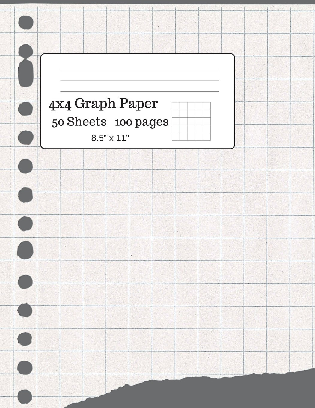 Big Graph Paper Composition Book Notebook Grid Quad Ruled 4x4 85 X 11 80 Sheets
