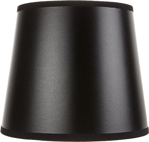 Upgradelights Black Barrel Drum 4 Inch Chandelier Shade Set of 6 3x4x4.25