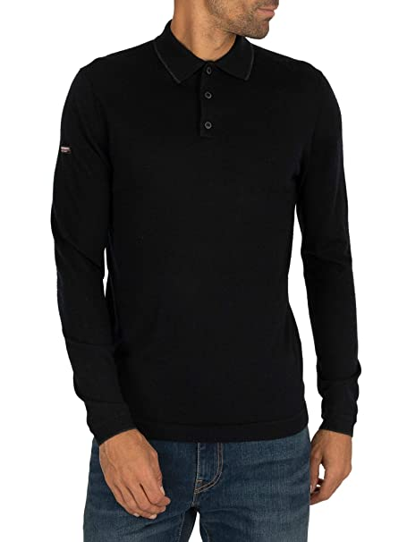 Superdry Edit Merino LS Polo: Amazon.es: Ropa y accesorios