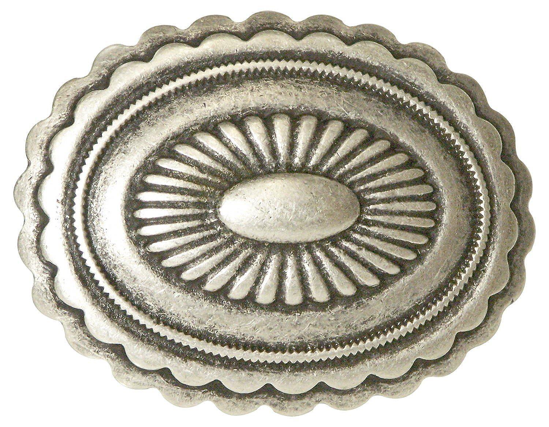 Koppelschnalle, Hippiestyle, Gürtelschnalle unisex, altsilber, für 4 cm Gürtelriemen