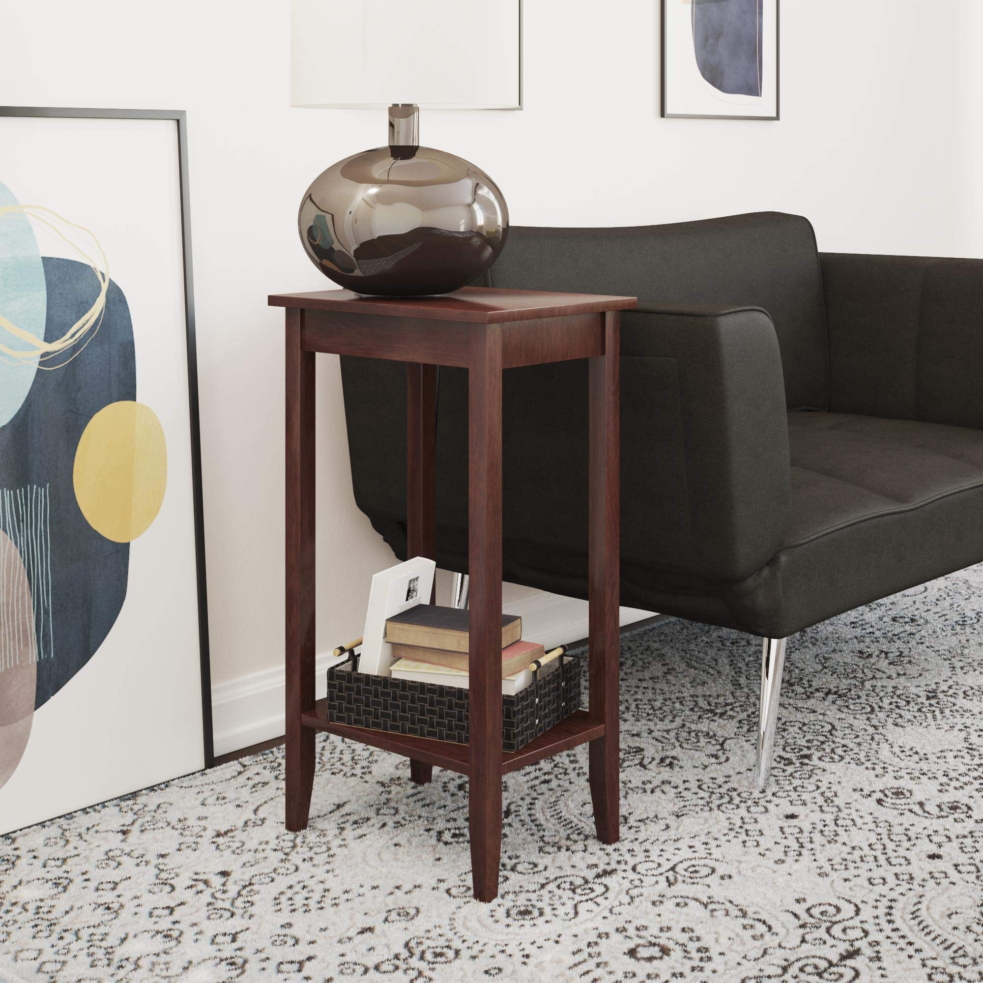 DHP Rosewood Tall End Table by DHP