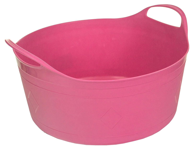 Excellent Houseware 15Lt Round Flexible Flexi Plastic Tub Tubs Bucket for Home Gardening Building Laundry (Blue)