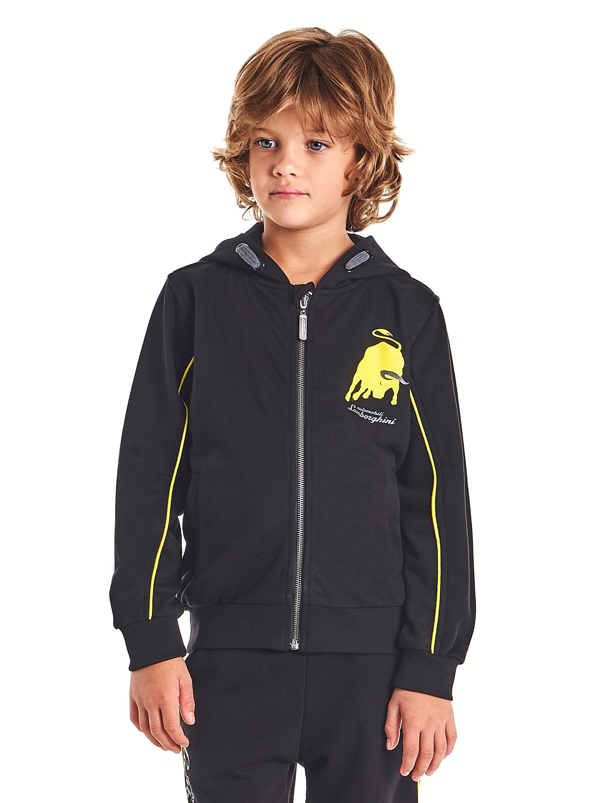 Automobili Lamborghini Children Lamborghini Big-bull Hooded Sweatshirt For Kids 8 Years Black by Automobili Lamborghini
