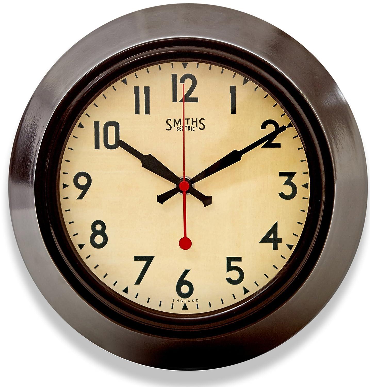 Brown metal wall clock smiths dial 255cm amazon brown metal wall clock smiths dial 255cm amazon kitchen home amipublicfo Gallery