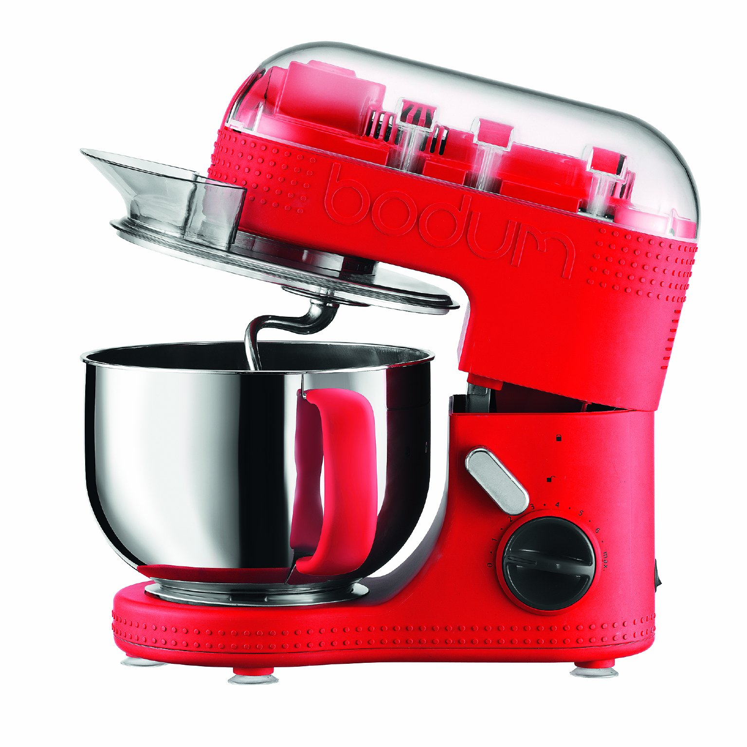 BODUM 11381-294US Bistro Electric Stand Mixer, 4.7-Liter, Red by Bodum
