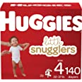 Diapers Size 4 - Huggies Little Snugglers Disposable Baby Diapers, 140ct, One Month Supply