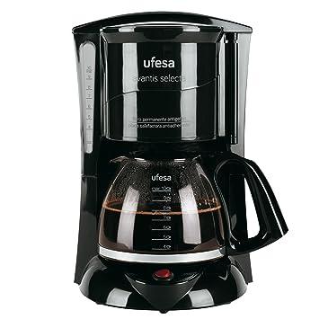 Ufesa 60 CG7231 Avantis Selecta-Cafetera de Goteo, 800W, Jarra de Vidrio, 10 Tazas, Filtro Permanente, 800 W, plástico, Negro