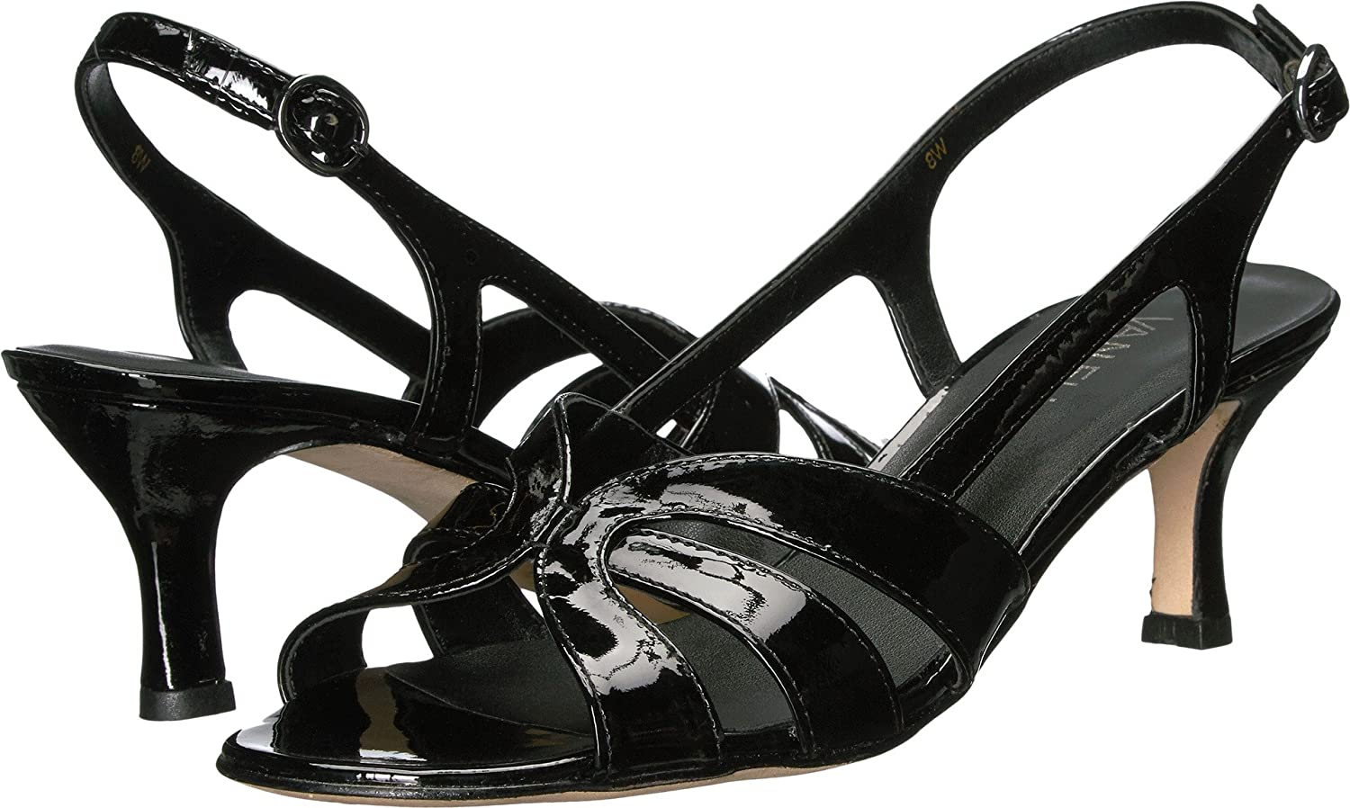 VANELi Women's Maeve Dress Sandal B01N9M0MTY 8.5 B(M) US|Black Patent/Gunmetal Buckle