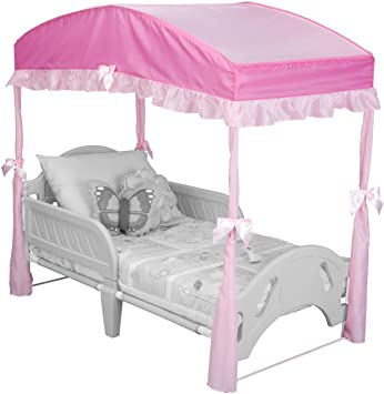 Amazon.com  Delta Children Girls Canopy for Toddler Bed Pink  Bed Tent For Toddler Bed  Baby  sc 1 st  Amazon.com : toddler canopy tent - afamca.org