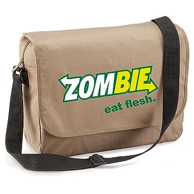 a228d5ead099 Amazon.com: Zombie Eat Flesh-Subway Style-Unisex Funny Jokes Sayings ...