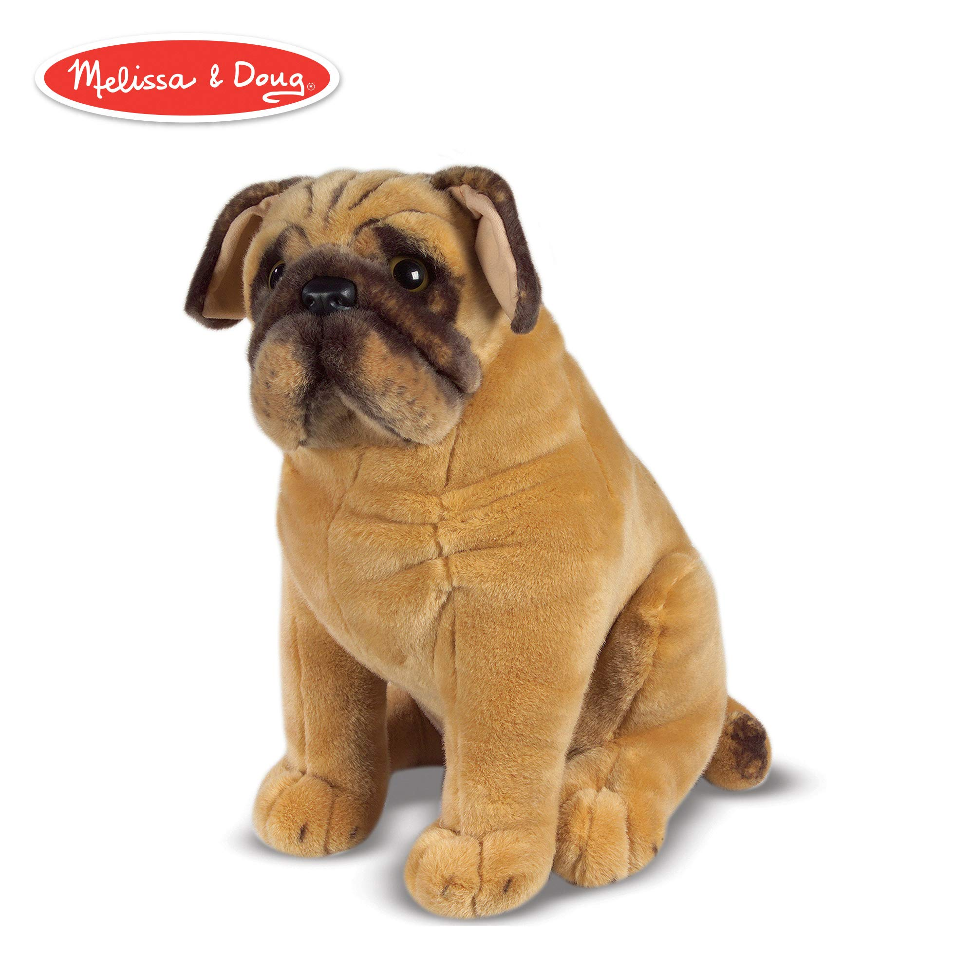 Melissa & Doug Pug Dog (Lifelike Stuffed Animal) by Melissa & Doug