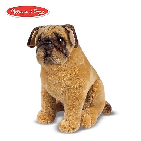 24038a29c Amazon.com: Melissa & Doug Pug Dog - Lifelike Stuffed Animal: Melissa &  Doug, 2125 : Toys & Games