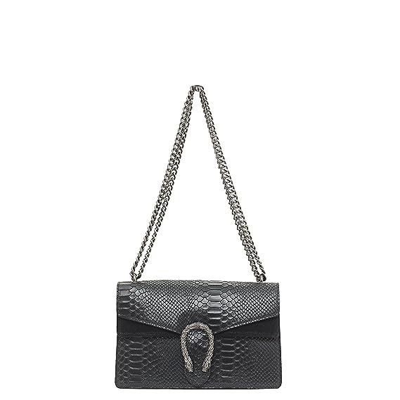 MASSIMA BARONI- Bolso de mujer de Piel de auténtica. Modelo Portofino. Se lleva al hombro o cruzado. Shoulder bag de diseño exclusivo, elegante y funcional.
