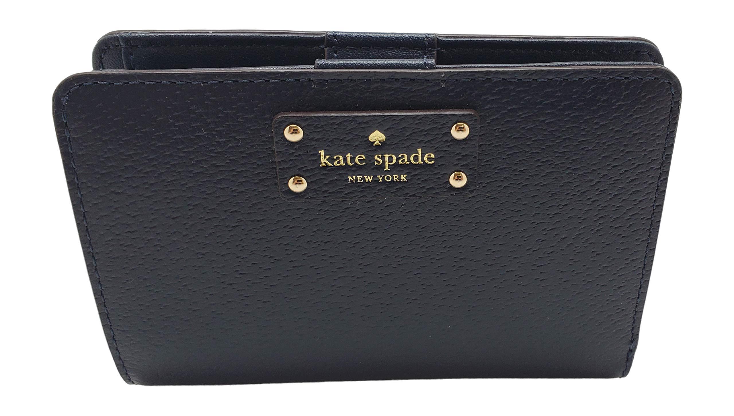 Kate Spade New York Tellie Grove Street Embossed Leather Wallet Blazer Blue by Kate Spade New York