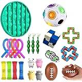 ألعاب حسية للأطفال، عبوة من 24 قطعة تخفف التوتر والقلق من تفاعل لعبة تفاعلية، لعبة يد لتخفيف التوتر، للأطفال والكبار