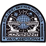 Alien Movie Prometheus Covenant Weyland Corp Crew Uniform Cosplay Patch Iron On Parche Bordado Termoadhesivo by