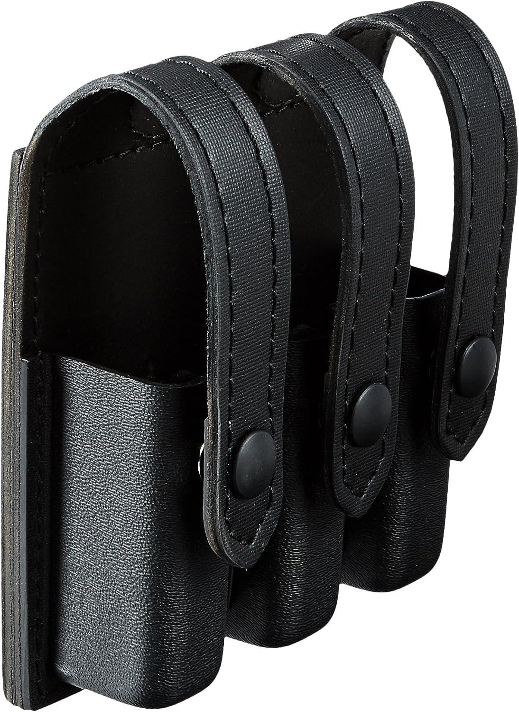 Safariland Duty Gear - Funda portacargador triple (parte superior plana, con cierre a presión 17, 22, 34, 35), color negro