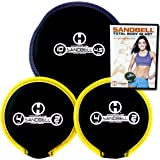 Hyperwear SandBell Total Body Blast Workout DVD with 3 SandBell Weights (18 lbs Capacity)