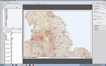424da8b96fe XYZ Postcode District Map (D4) - North England - Editable GeoPDF ...