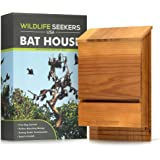 Wildlife Seekers USA - Premium Cedar Wood Bat House - Durable Double Chamber Bat Box for Outdoors - Easy to Mount Wooden Bat