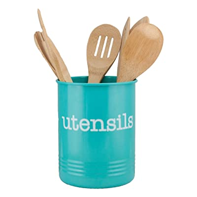 Buy Large Turquoise Utensil Holder New Teal Utensil Holder To Organize Kitchen Accessories Gadgets And Cooking Utensils Farmhouse Teal Kitchen Canister Organizer Online In Hong Kong B07cz1f46f