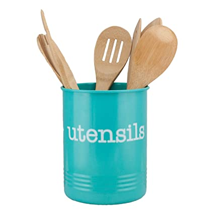 Large Turquoise Utensil Holder New - Teal Kitchen Accessories- to Organize  Your Kitchen Gadgets and Cooking Utensils, Farmhouse Utensil Caddy Teal